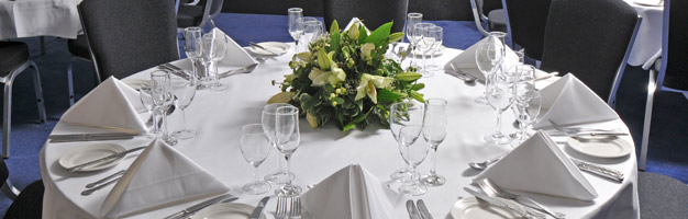 A wedding table-setting